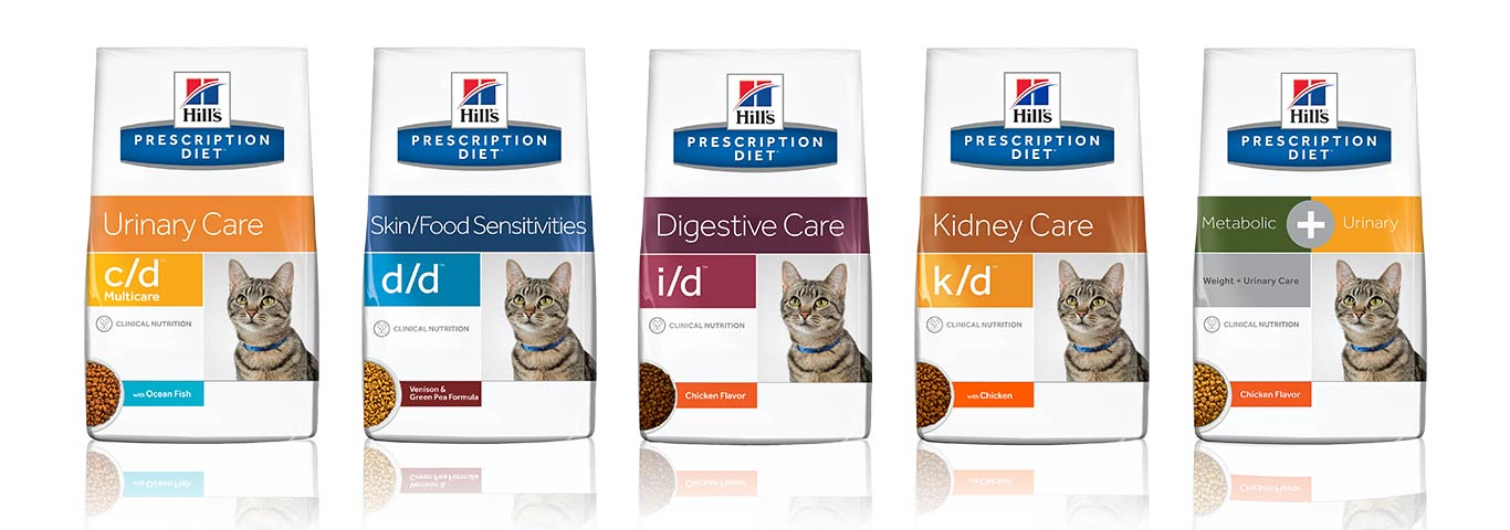 Hill's cat packshots prescription diet