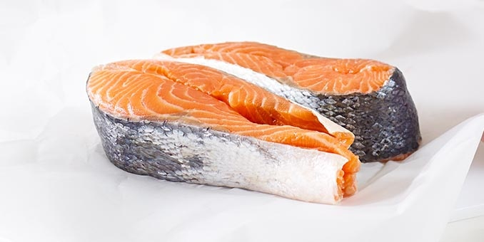 Salmon, a high-quality ingredients used in Hill's Pet Nutrition food.